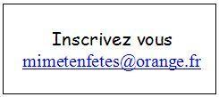 Adresse mail site